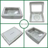 Коробка белой еды бумажная упаковывая с ясным окном