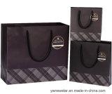 Negro de alta calidad bolsa de regalo de papel con asa