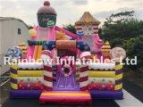 Nuevo diseño de diapositivas de caramelos juegos inflables en venta