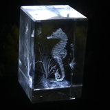 3D Laser Crystal Gravado Cube Block Craft for Souvenir