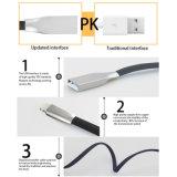 Dados do USB do relâmpago liso por atacado do macarronete micro e cabo do carregador