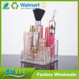 Organizador cosmético cristalino del maquillaje del rectángulo de la base transparente del picosegundo de 9 cubos