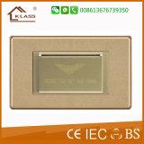 Переключатель мощности ключевой карточки вкладчика энергии цвета мозаики золотистый
