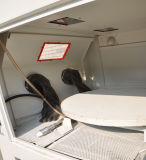 Máquina de chorro de arena seca con equipos de chorreado de tornamesa