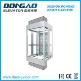 Ascenseur de tourisme en verre de qualité avec dispositif Vvvf