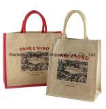Costume relativo à promoção por atacado sacos lisos reusáveis Eco-Friendly impressos de Juco