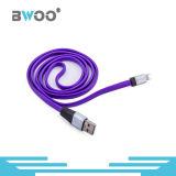 Câble de caractéristiques micro de la foudre colorée USB pour le téléphone mobile