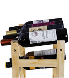 Madera 20 Botellas Vino Display Rack Vino Estanterías Estilo Natural