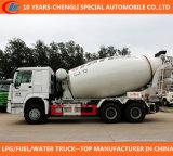 HOWO 6X4 371HP 12000litres 30mtの重コンクリートのコンクリートミキサー車のトラック