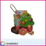 Etiquetas impresas aduana de encargo del regalo de la etiqueta del regalo de la Navidad de la cartulina, etiquetas del regalo de día de fiesta, gracias tarjeta del regalo de Card&Christmas del saludo