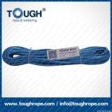 파란 색깔 12mmx28m Uhwmpe 밧줄 윈치 합성 물질 밧줄