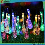 Stunning Crystal Waterdrops Solar LED String Lights Decoração Light