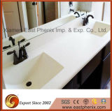 Естественная Polished белая тщета кварца для ванной комнаты/кухни