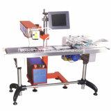 Producto-Línea tipo máquina de Hzlc -20 de la marca del laser de la etiqueta de plástico del laser del CO2 del RF de China