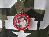 Medalhas de Santa do Natal da liga do zinco da gravura do esmalte de Custome