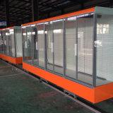 Supermercado de vidrio de 3 Caras congelador vertical