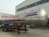 Semitrailer chinês novo do fabricante 40.5m3 2axles 17mt LPG