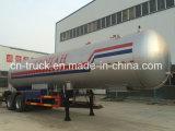 De nieuwe Chinese Oplegger van LPG 2axles van de Maker 40.5m3 17mt