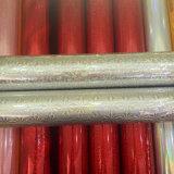 Película de sellado caliente de papel olográfica del PVC para el plástico