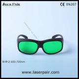 Transmitencia de los anteojos de la protección de las gafas de seguridad de laser/laser para los lasers rojos, rubí (RHP-2 600-700nm) del 30% con el marco 33