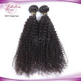Tissage brésilien de cheveu de Vierge bouclée crépue de cheveux humains de 100%