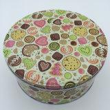 Мультфильм конфеты Тин флажка печенье круглой формы
