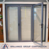 L'isolation acoustique comme2208 Verre porte de la charnière d'Extrusion standard en aluminium