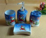 Рождество в ванной комнате устанавливает керамикой ванные принадлежности моды ванной,