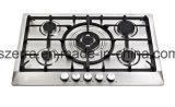 Fornello di gas incorporato nero del ghisa di Glassic della cucina domestica Jzg5708d