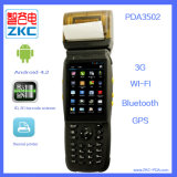 Terminal rugosa Handheld de la posición del explorador del código de barras Zkc3502 con la impresora térmica