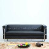 Il sofà nero commerciale del salone ha impostato con il blocco per grafici del metallo e la tappezzeria dell'unità di elaborazione (SP-KS367)