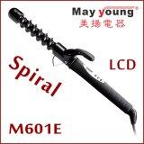 Encrespador de cabelo Titanium elétrico do ferro de ondulação do cabelo do tambor espiral original do preço de fábrica