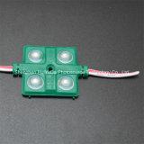 4SMD5630 녹색 LED 주입 모듈 36*36는 LED 모듈을 방수 처리한다