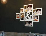 Plastic Multi Openning Decoração para casa LED Light Collage Photo Frame