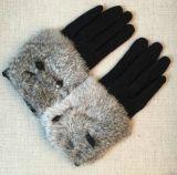Акриловые перчатки зимы экрана касания волос Cony