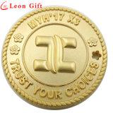 Изготовленный на заказ монетки металла оптовой продажи 3D покрынные золотом для сувенира