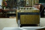 Sofà di cuoio sezionale del salone, sofà antico