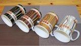 Taza de café personalizada 12oz al por mayor de la porcelana con la cuchara