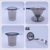 Edelstahl-Tee Infuser Tee-allgemeinhinset des Metallgrüner Tee-Ineinander greifen-Filter-304