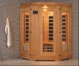 Sauna infravermelha de madeira maciça para tamanho personalizado (AT-0927)
