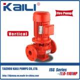 Pompa ad acqua centrifuga della conduttura verticale di serie dell'ISG (outlet100-150mm)
