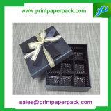 Kundenspezifischer Luxuxschokoladen-Kuchen-Papppapier-Geschenk-Kasten mit Farbband