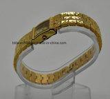 Wristwatch вахты ювелирных изделий повелительниц способа золотистый медный латунный для подарка