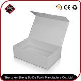 Toque de color negro Caja de plegado de papel regalo con logo Imprimir