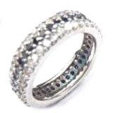 입방 지르코니아 R9984-3를 가진 짜개진 조각 반지를 가진 형식 보석