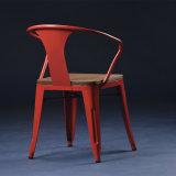 Silla respetuosa del medio ambiente exclusiva del brazo de Tolix con el asiento de madera (SP-MC039W)