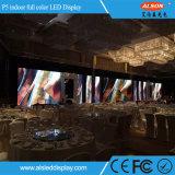 La visualización de LED de interior del alquiler P5 con a presión el aluminio de la fundición