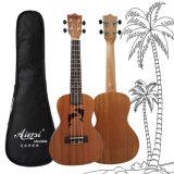 Concerto de mogno golfinhos 24 Polegadas Ukulele Guitarra artesanais