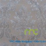 Papel pintado del PVC de la alta calidad para la anchura de la decoración 1.06