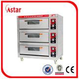Plateaux électriques classiques du paquet quatre du four deux pour le restaurant, approvisionnements de cuisson pour le matériel commercial de traitement au four de four de paquet d'acier inoxydable de qualité en Chine